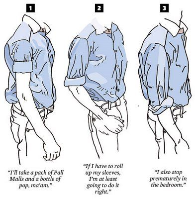 How to properly wear rolled sleeves