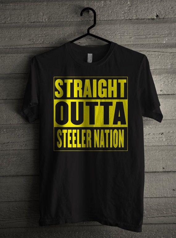 Straight Outta Steeler Nation Men S Football T Shirt Etsy Redbubble Shirt Football Tshirts Shirts