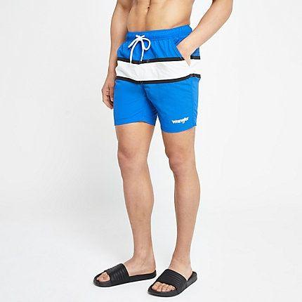 84577582e8593 Mens Wrangler Blue stripe swim shorts in 2019 | Products | Swim ...