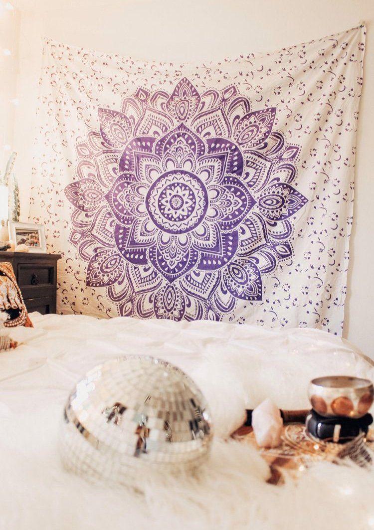 Lavender Mandala Tapestry Mandala Tapestry Tapestry Decor