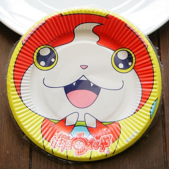 Made in Japan Yo-kai Watch paper plates dishes by JAPANCuteBox & Made in Japan Yo-kai Watch paper plates dishes 15cm set of 7 ...