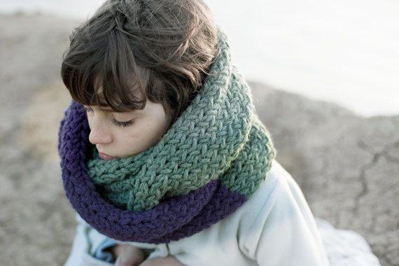 Infinito sciarpa  grosso Extra lungo  mano a maglia di mosgos