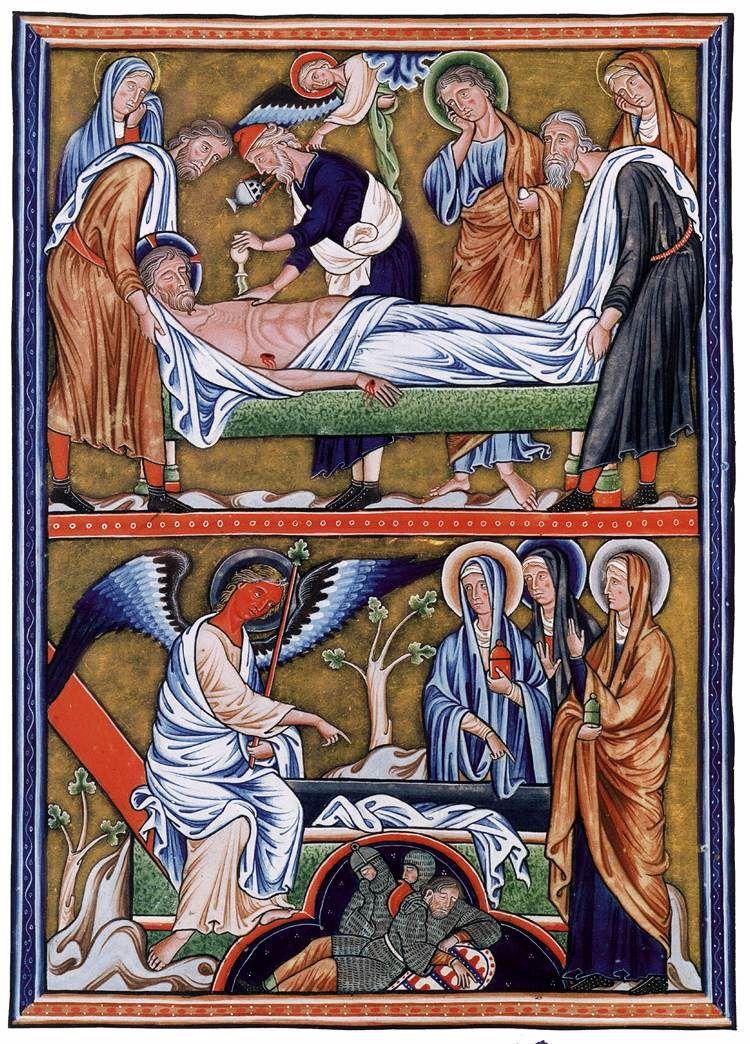 Salterio de Ingeburge (1193-1213). Chantilly, Museo Condé. Correspondiente al taller parisino, presenta influencias bizantinas en los pliegues ondulados de los ropajes. Gran suntuosidad y sutileza en la paleta de colores