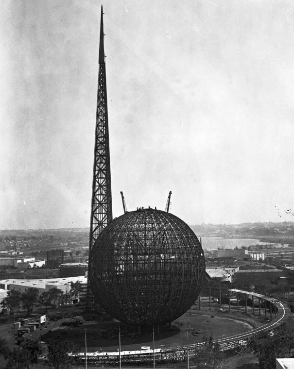 Framework Of The Trylon And Perisphere During Construction