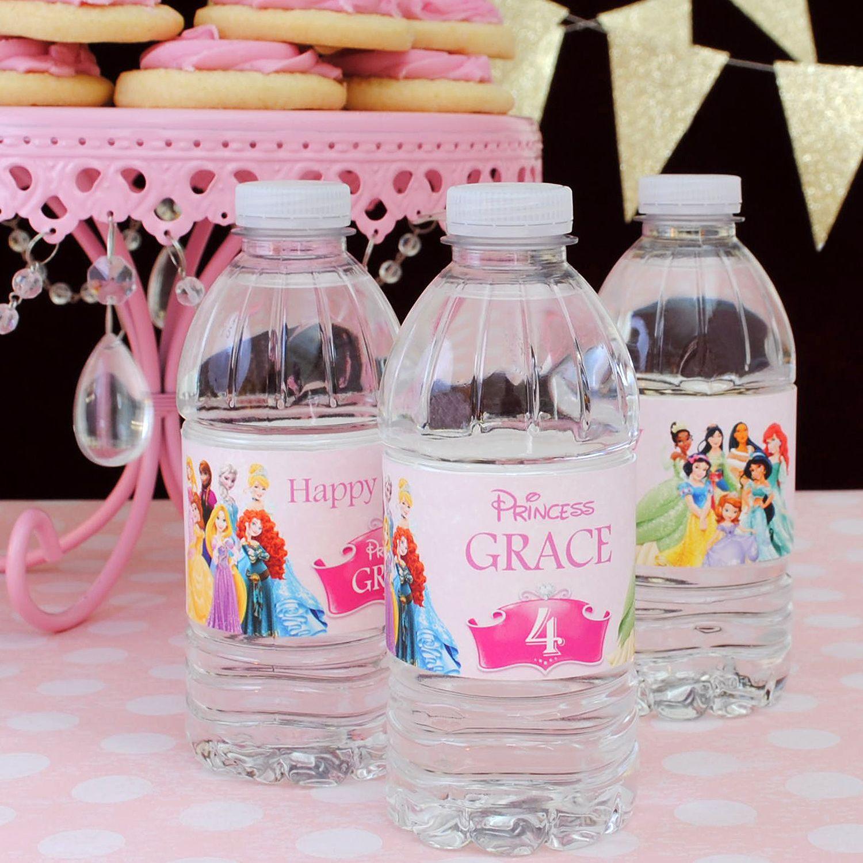 Custom water bottle labels for kids birthday parties