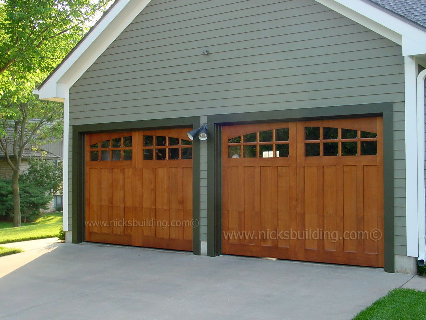 Garage door interior trim - Wood Garage Doors Stable Style Garage Doors Garage Door With Glass Brown Door