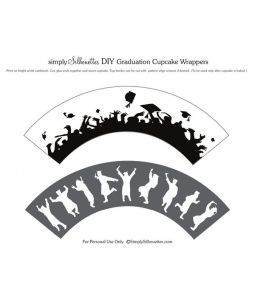Photo of Simply Silhouettes Graduation Cupcake Wrappers#cupcake #graduation #silhouettes …