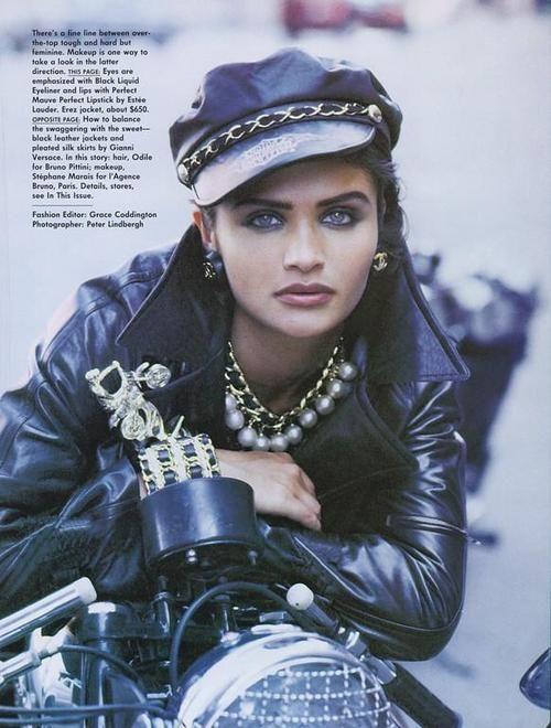 """""""Wild At Heart"""", Vogue US, September 1991. Photographer: Peter Lindbergh. Model: Helena Christensen."""