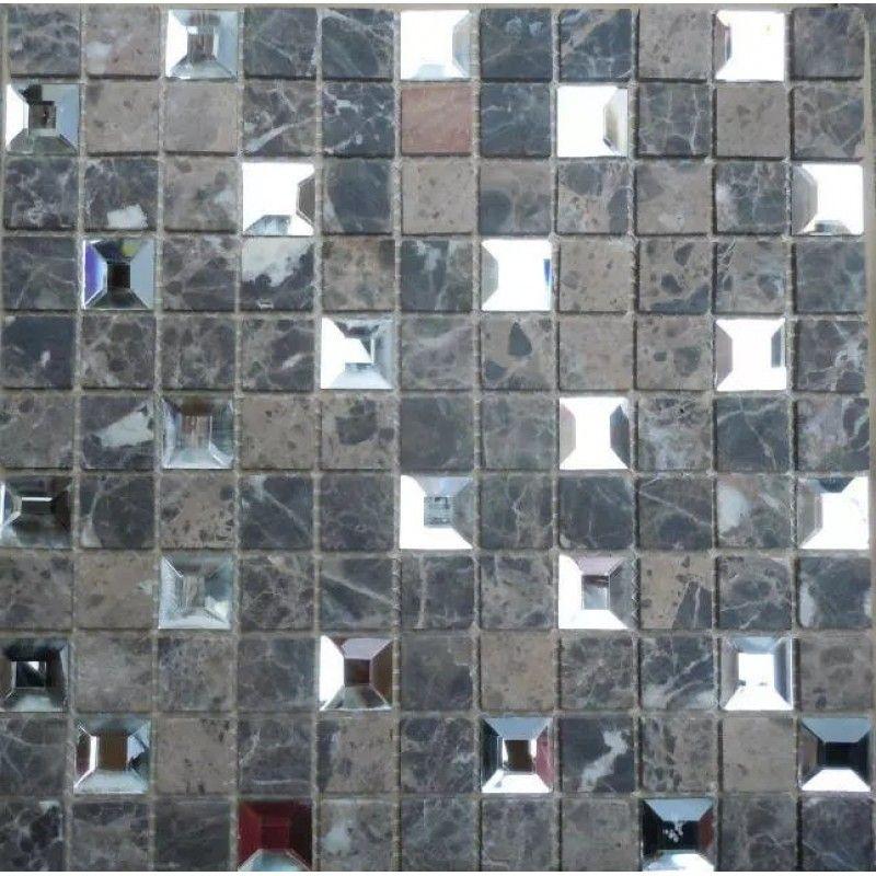 Mirror Mosaic Tiles Sheet Pyramid Patterns 1 Stone And Glass Tile Backsplash Diamond Tile Mosaic Tile Mirror Mosaic Tiles