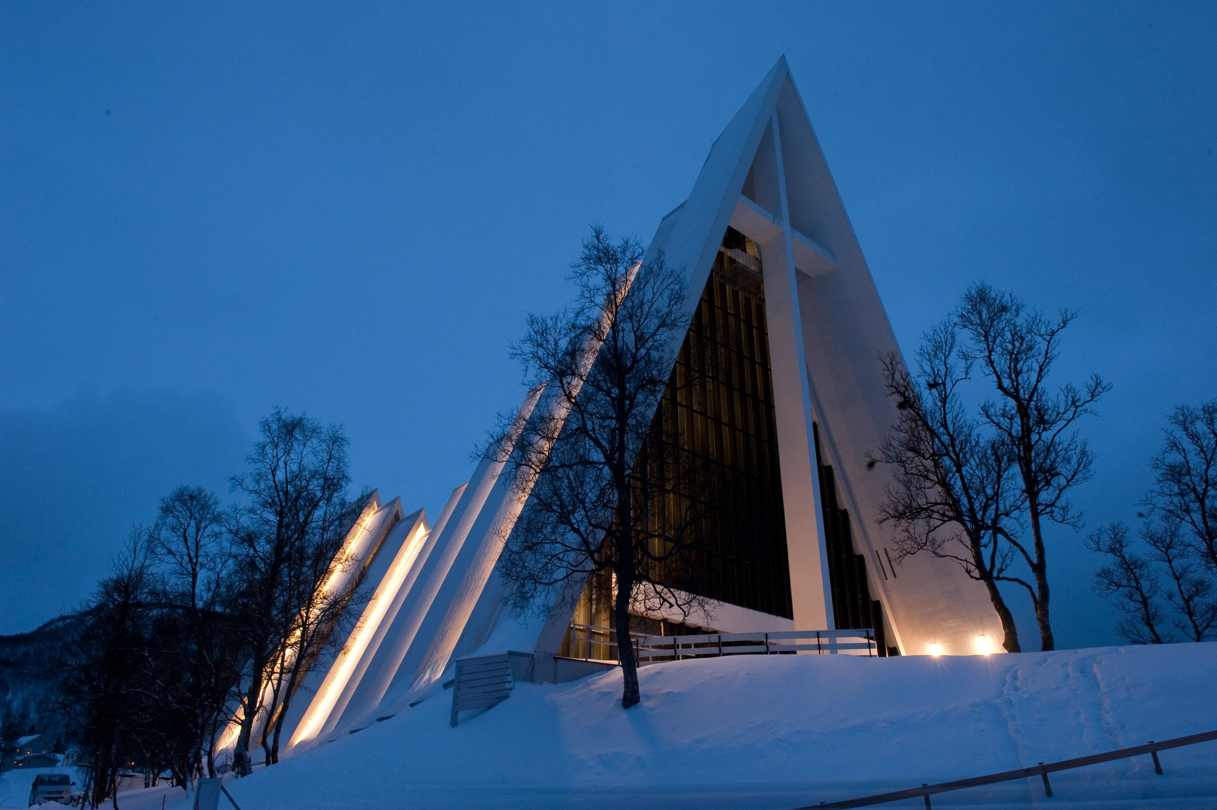 Arctic Cathedral In Tromso Klaus Peter Kappest Hurtigruten Asa Tromso Norway Cathedral