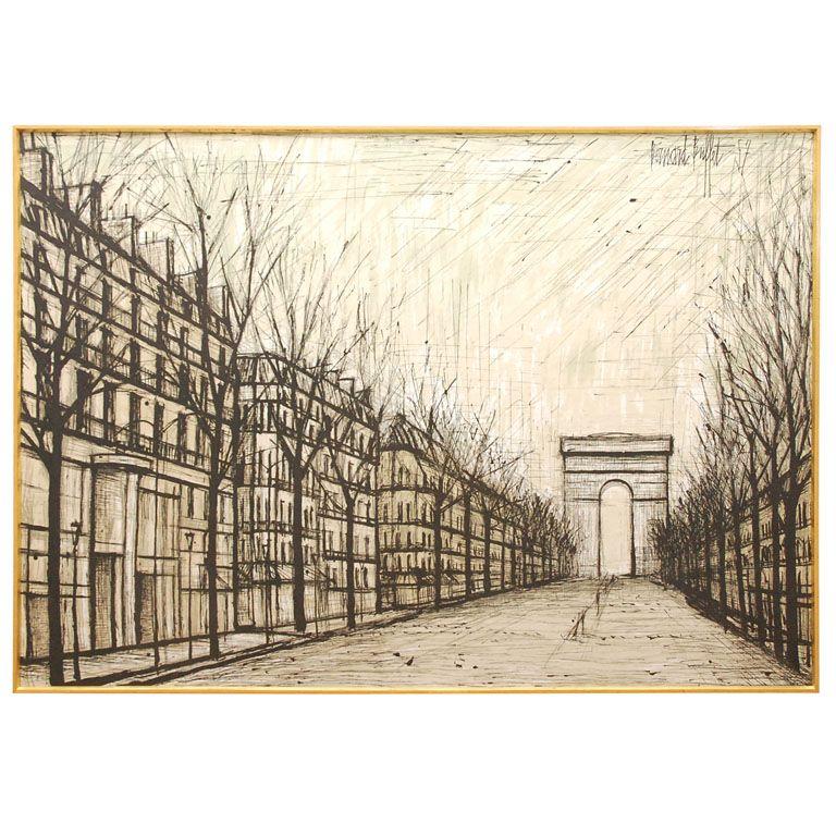 Magnificent Champs Elysses 1957 Bernard Buffet Lithograph On Linen Download Free Architecture Designs Sospemadebymaigaardcom