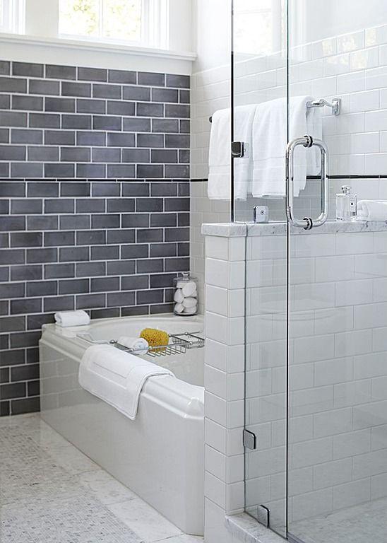 Wall tile half  shower glass also bathroom pinterest