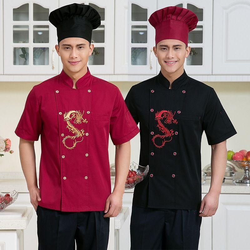 Restaurant Kitchen Uniforms new design chef jacket hotel chef uniform wear short sleeved hotel