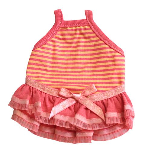 Guinea Pig Dress (Pink/Orange Border A), $16.50