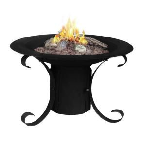 Backyard 30 inches Fireplace w// Old Frontier Design Stone Magnesia Fire Pit