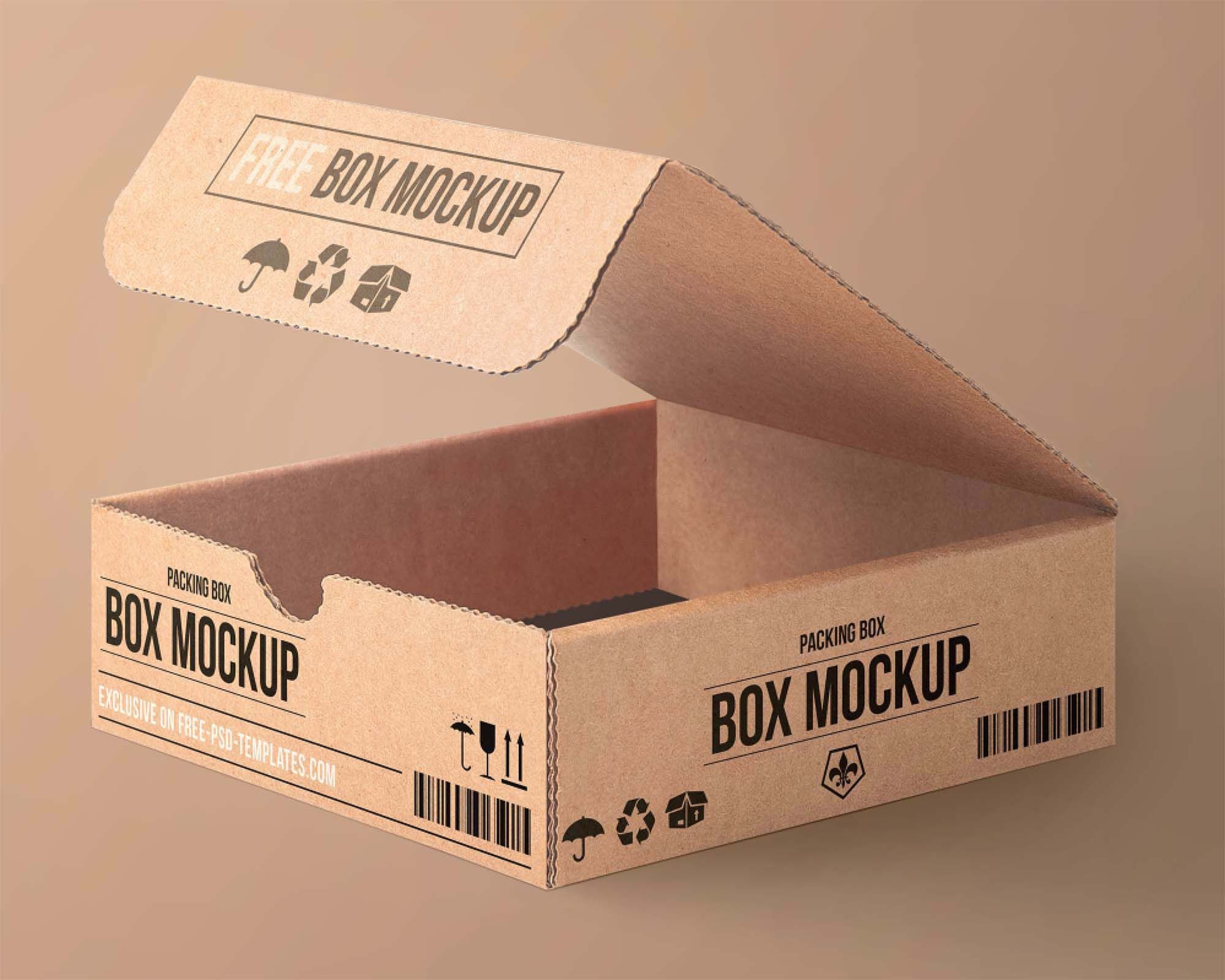 Download Free Cartoon Packaging Mockup Psd Packaging Template Design Box Mockup Box Packaging Templates
