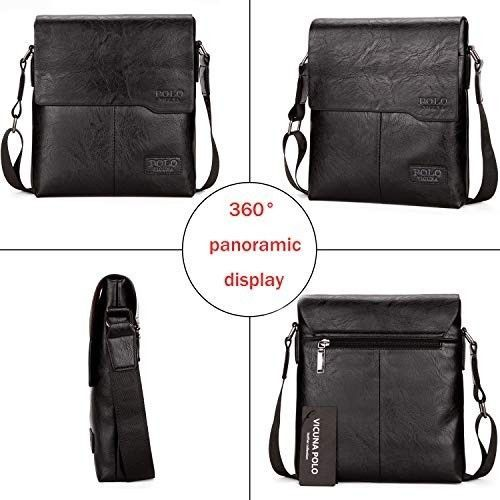 563938657ac5 New Polo Vicuna Black Leather Men Messenger Crossbody Shoulder Bag  fashion   clothing  shoes  accessories  mensaccessories  bags (ebay link)