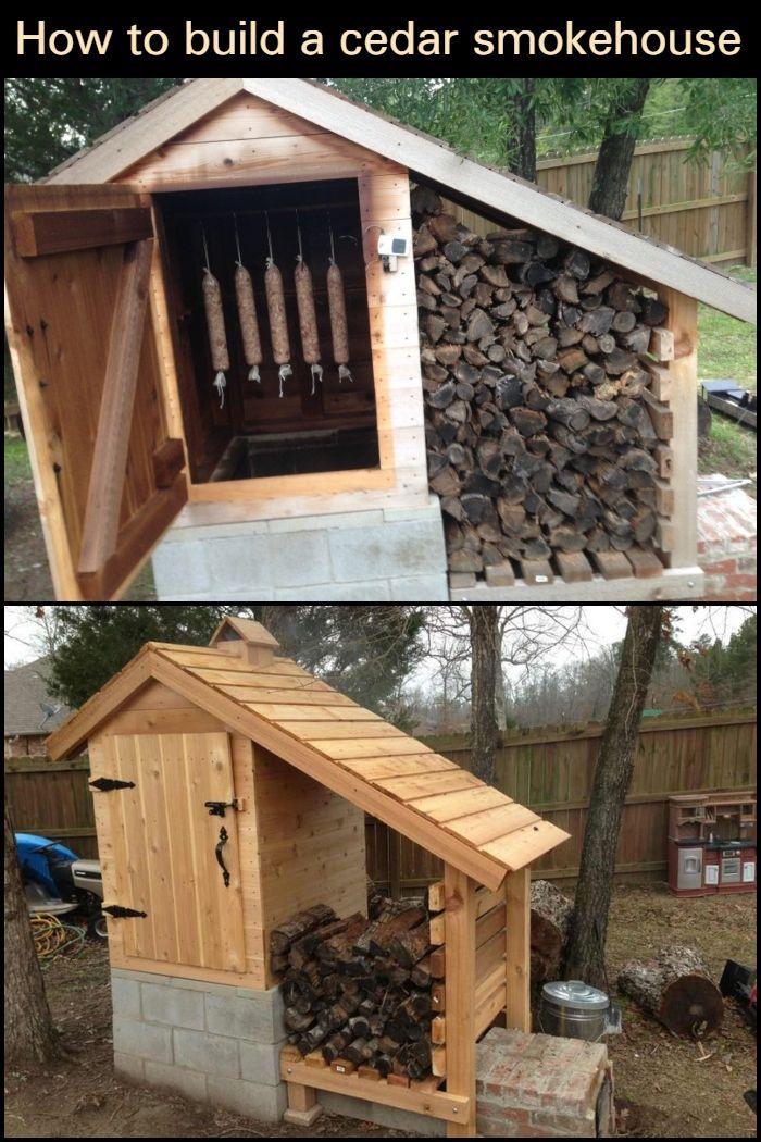 How to build a cedar smokehouse
