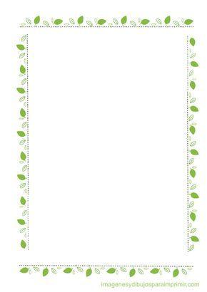 Bordes con hojas para imprimir imagenes y dibujos para for Paginas decoradas