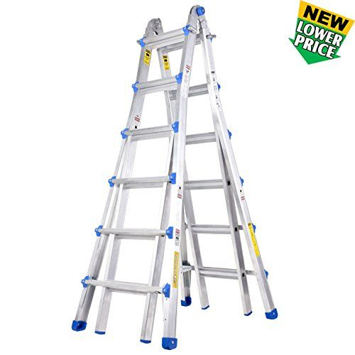 Toprung 25 Feet Aluminum Extension Ladder 300bls Duty Rating Multi Purpose Professional Ladder Read More At The Image Li Multi Ladder Multi Purpose Ladder