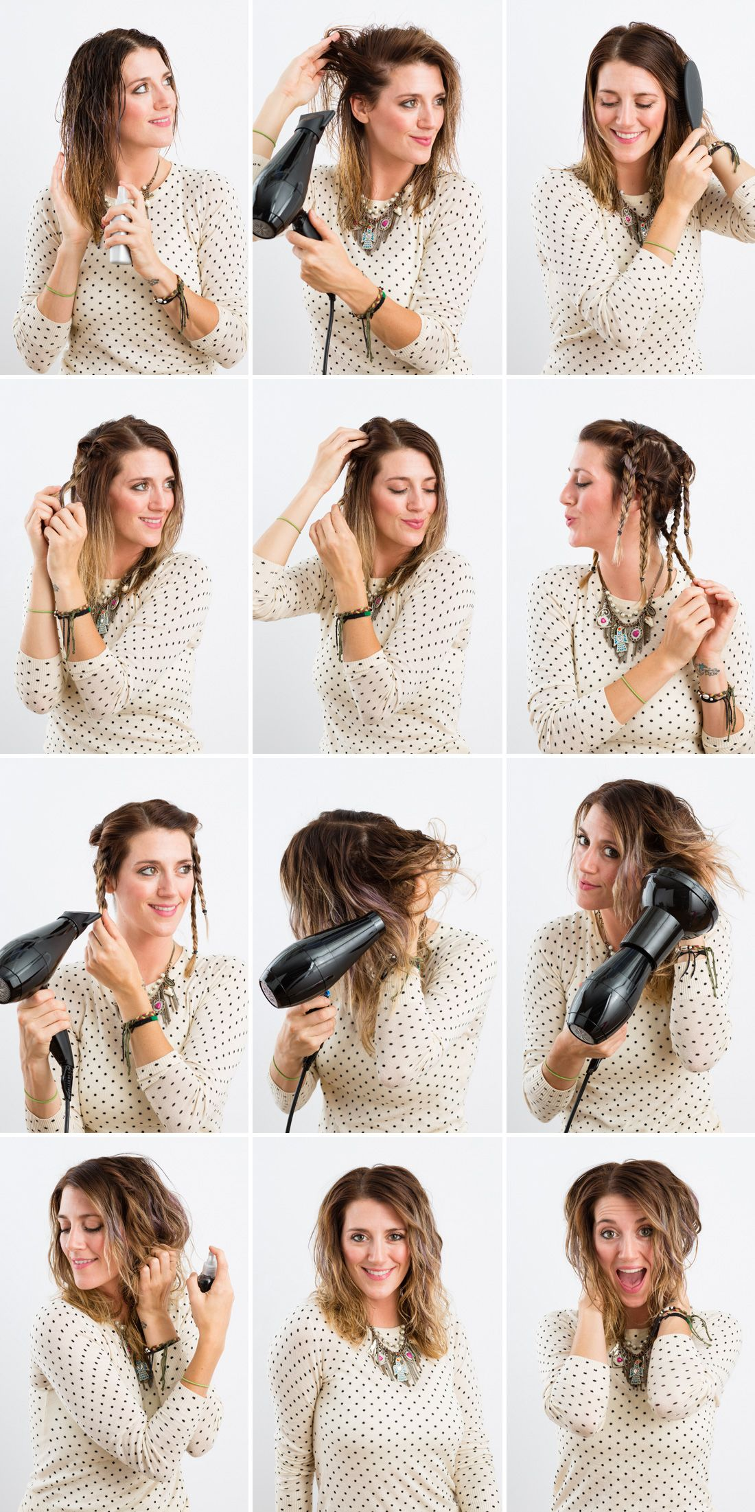 how to diffuse curly hair step by step