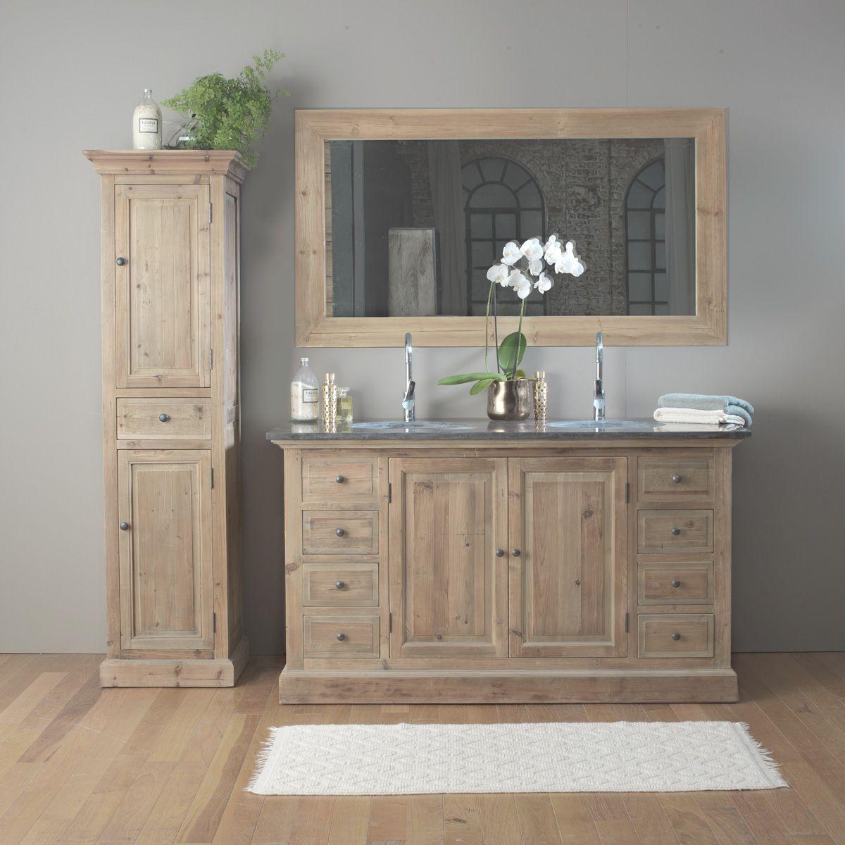 Meuble Pour Vasque Avec Colonne laissez-vous tenter par ce meuble salle de bain bois massif