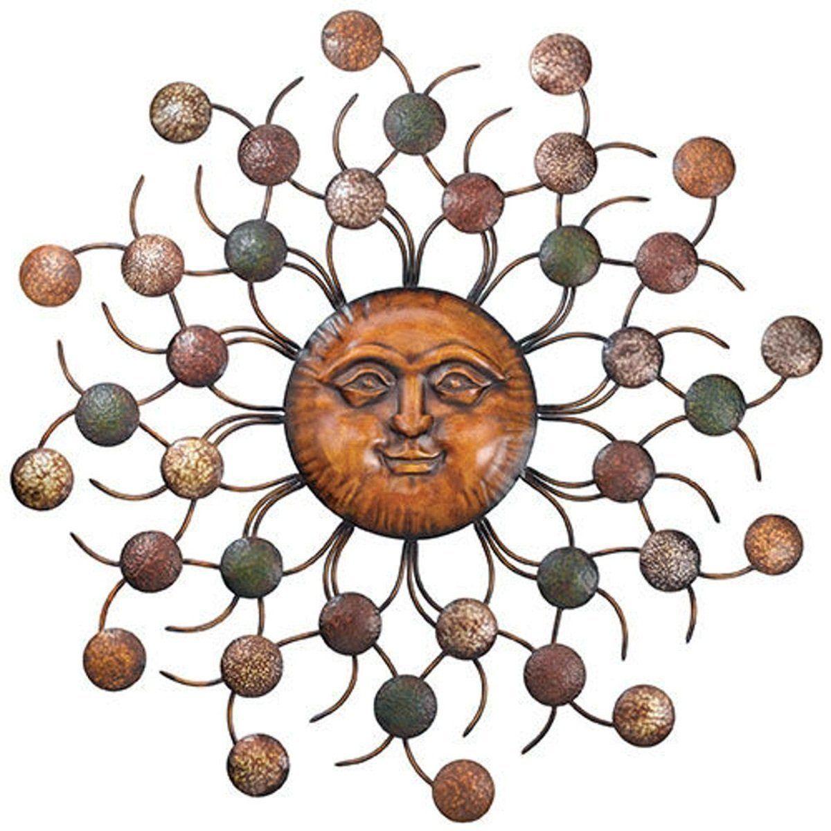 Amazon Com Chsgjy Sun Face Circles Wall Art Sculpture Large