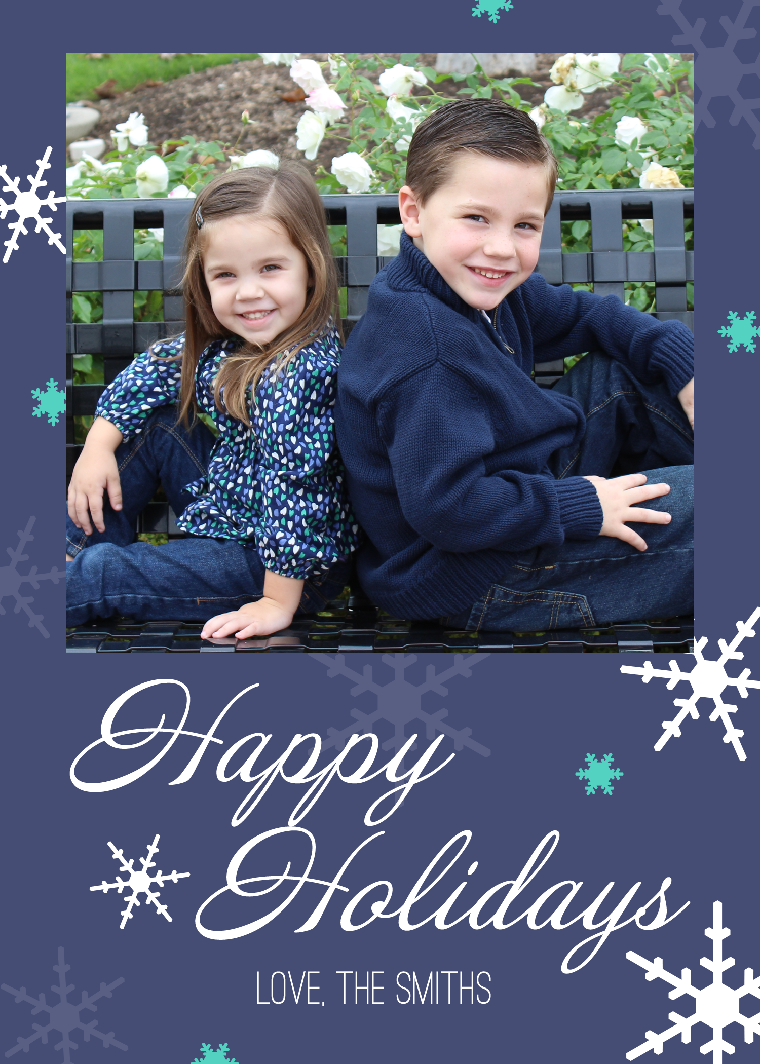 FREE Printable Holiday Photo Card PLUS Pixlr Video Tutorial - Card template free: photo insert christmas cards