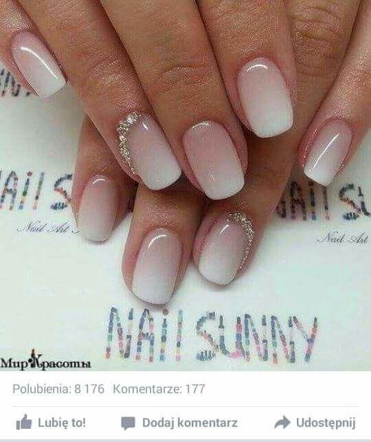 Delikatne Dla Panny Młodej Paznokcie Pinterest Wedding Nails
