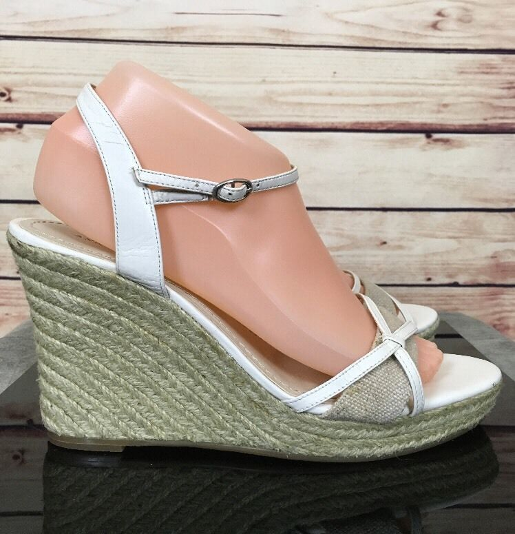 Ann Taylor platform wedge Sandales ankle strap toe schuhe open toe strap Damenss 00d69a