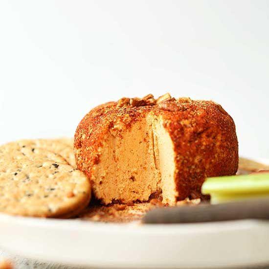 Spicy Vegan Pimento Cheese Ball Recipe Vegan Cheese Baker Recipes Vegan Holiday Recipes