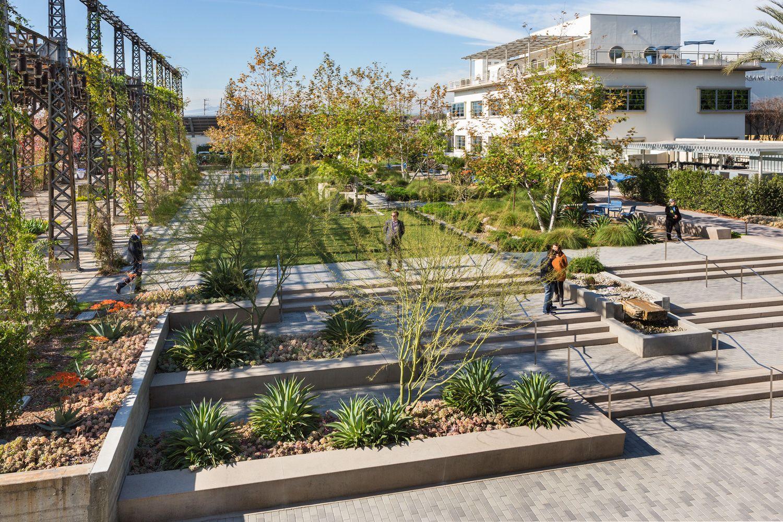 Burbank Water Power Landscape Stairs Campus Landscape Design Urban Landscape