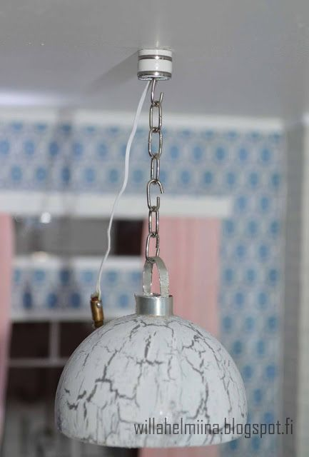 how to make a miniature crackled glass dollhouse lamp