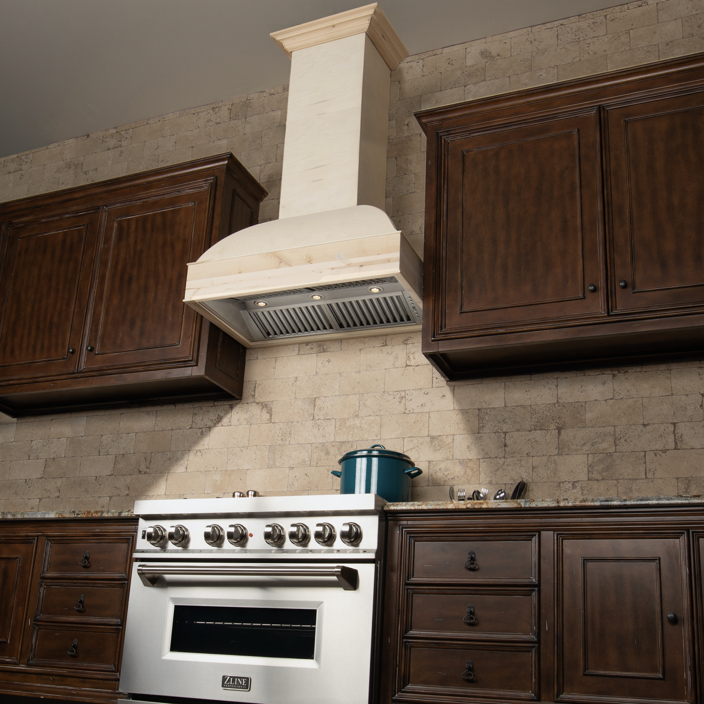 Zline 30 In Unfinished Wooden Wall Mount Range Hood Includes