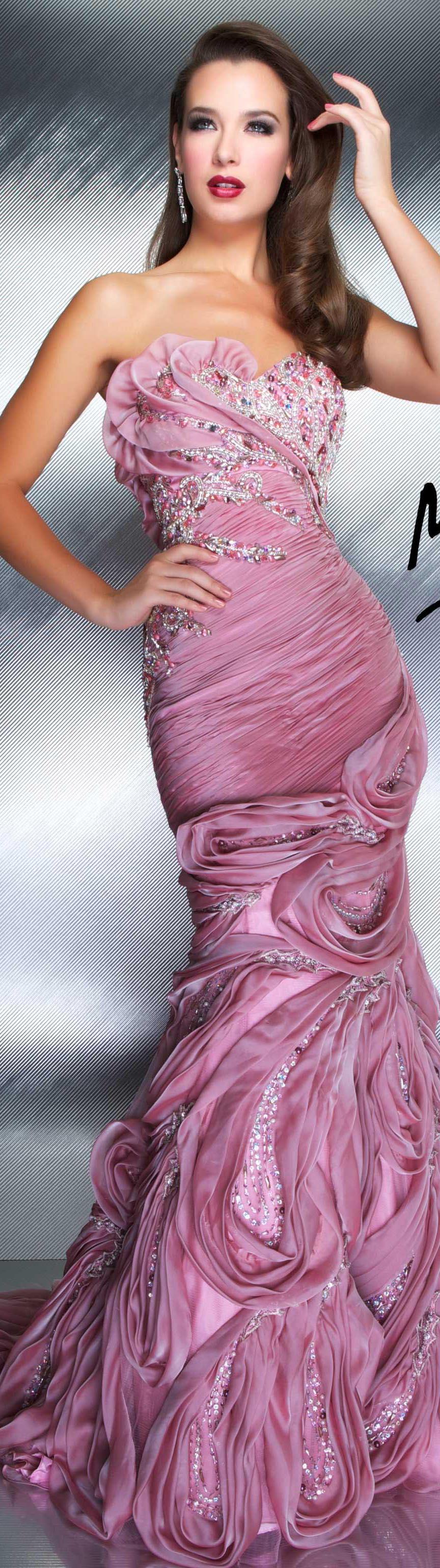 Mac Duggal couture dress | dress | Pinterest | Rosas, Vestiditos y ...