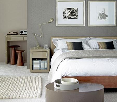 Dormitorios con pared de color gris buscar con google for Dormitorios pintados en gris