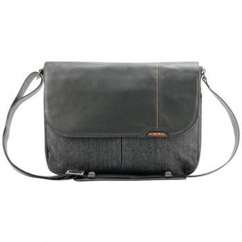 0046ca4ab Bolsa masculina para notebook de couro com jeans. Encontre este Pin e  muitos outros na pasta Bolsas ...