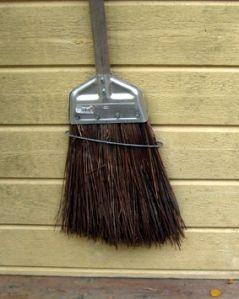 Broom beside our door