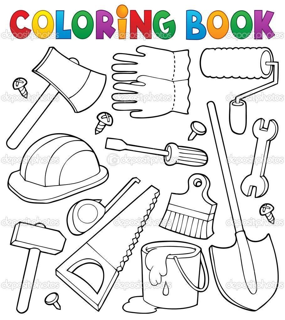 Resultado De Imagen Para Herramientas De Carpintero Para Colorear Coloring Books Tools Theme Fathers Day Crafts