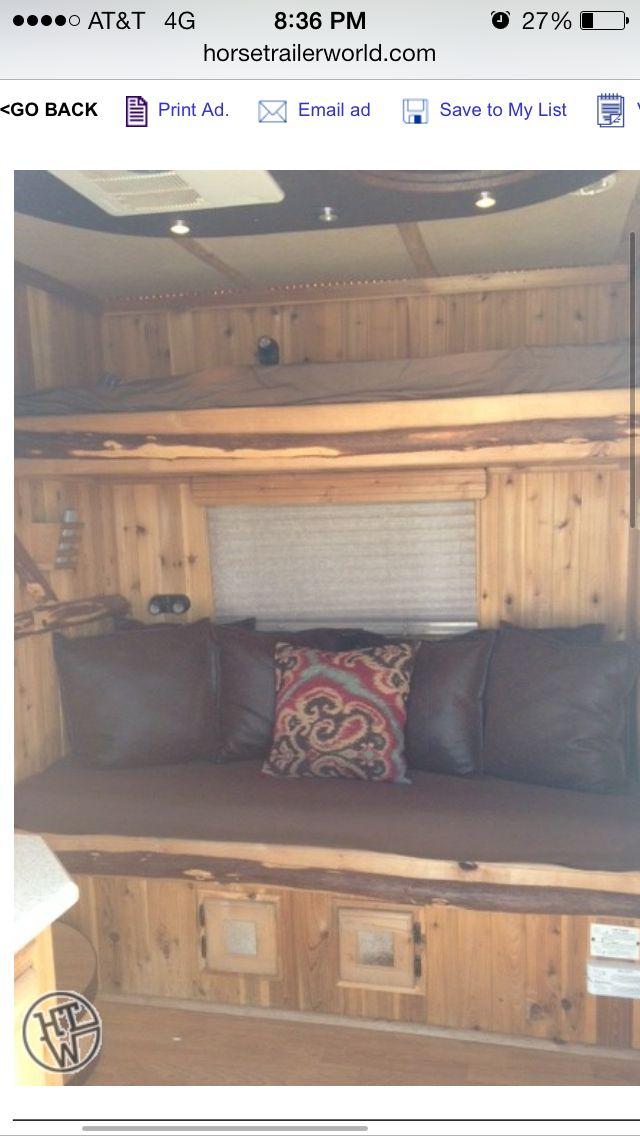 Bunk Beds Living Quarters Towing A Horse Trailer Pinterest