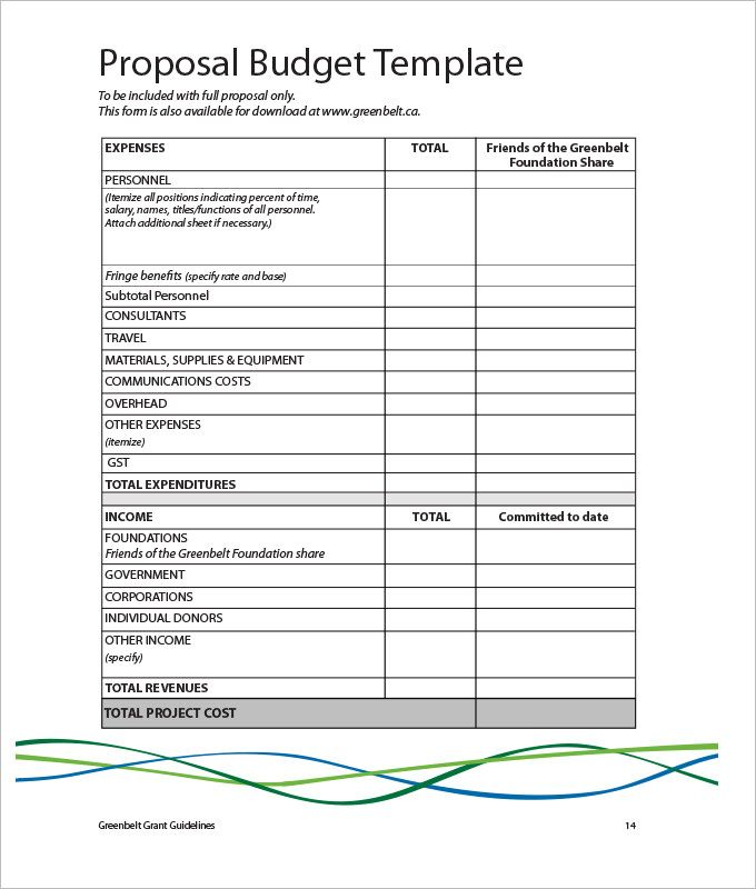 Budget Proposal Template   Marketing Budget Template  The Best
