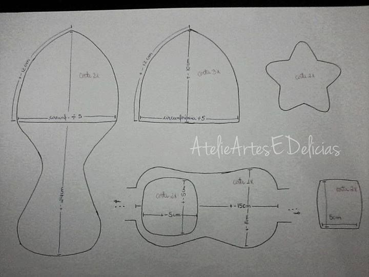 Resultado de imagen para molde gorro de aviador | Benja | Pinterest ...