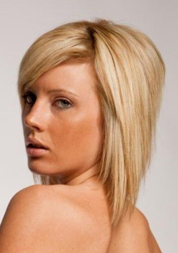 Extreme Layered Inverted Bob With Long Side Bangs Bob Hairstyles Hair Styles Inverted Bob Hairstyles