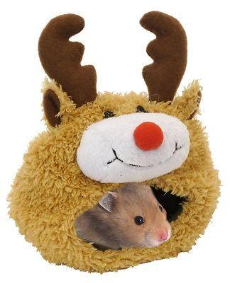 Rosewood Reindeer Christmas Snuggle Bed for Hamsters Gerbils