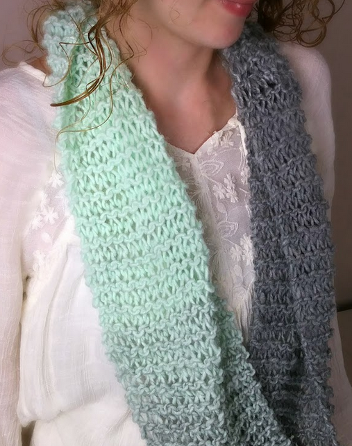Beginners Knit Infinity Scarf Scarf Patterns Infinity And Scarves