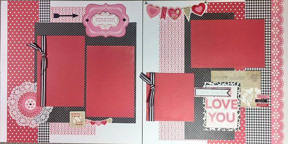 Forever Love Valentine's- scrapbook page kit, prem