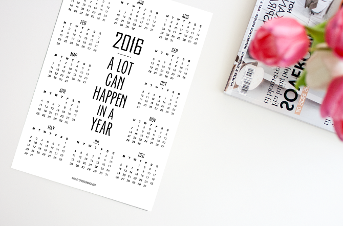 2016 year calendar made by Epic Design Shop.   http://www.reidunbeate.com/2015/10/14/2016-year-calendar/