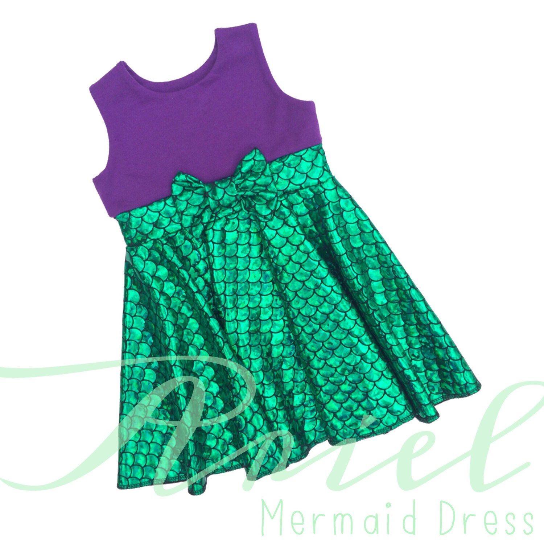 The Little Mermaid Ariel Inspired Disney Dress. Girls Mermaid ...