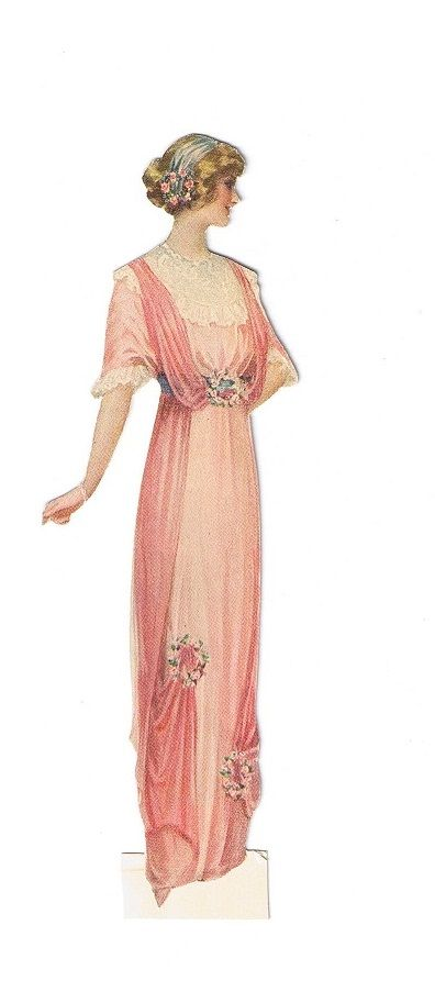 vintage lady fashion, woman in pink dress