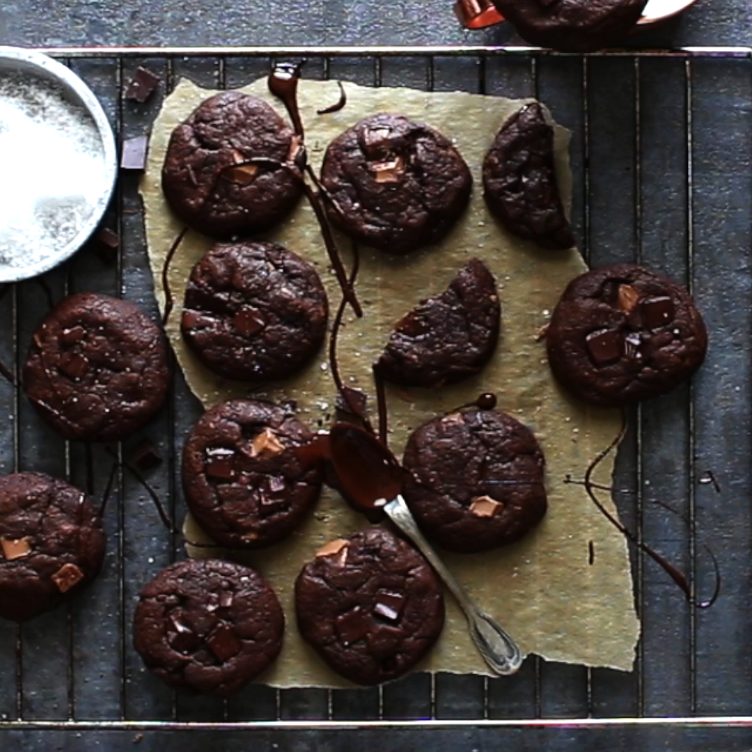Fudge Brownie Cookies #quickcookies